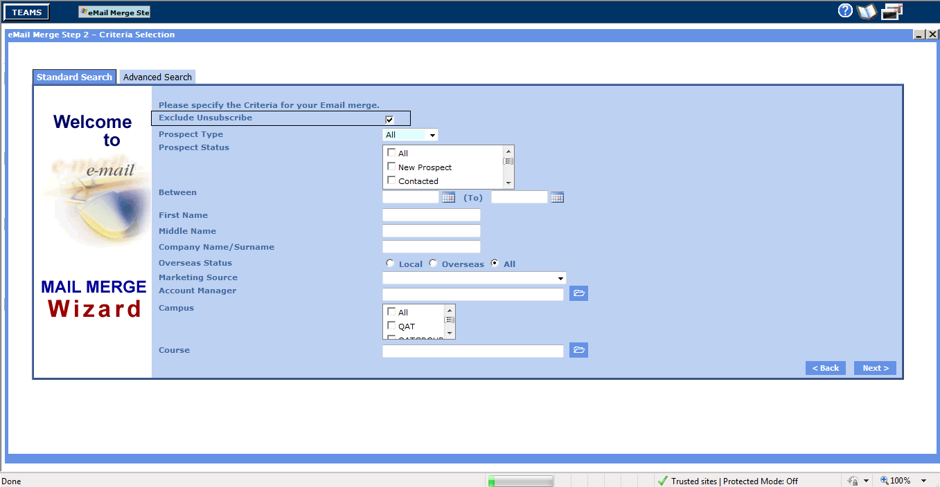 email-merge-prospect-standard-search-parameter-screen
